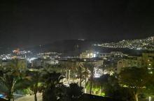 以色列的提比利亚城的夜景