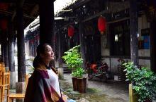 美丽的船形古街,国庆节雨中即景