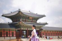 在景福宫穿韩服啦
