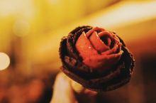高颜值玫瑰花冰淇淋
