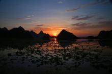 #为祖国庆生#普者黑.西荒湿地 天光云影,完美日落