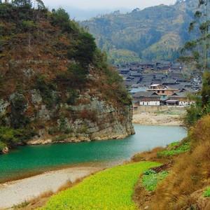会同游记图文-湖南和贵州的河太美,随便拍都好看(侗乡游13)