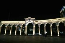 哈萨克斯坦阿拉法拉比大学夜景