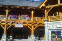班夫国家公园的游客中心,木屋的内部