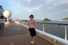 邮轮刚刚穿过女神大桥,进入长崎🚢