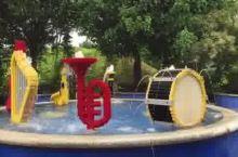 新山乐高乐园积木喷泉