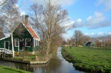 荷兰桑斯安斯风车村美丽风景