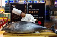 厦门渔港吃顿海鲜,还赶上蓝鳍金枪鱼开鱼表演