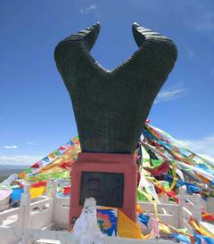 [黄河游览区游记图片] 玛多黄河源上的牛头碑