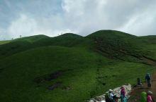 武功山云中草原,日出日落,山下到处都是一片绿色的树木。