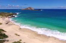 航拍夏威夷欧胡岛最东端的海滩