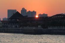 外沙码头的朝与夕