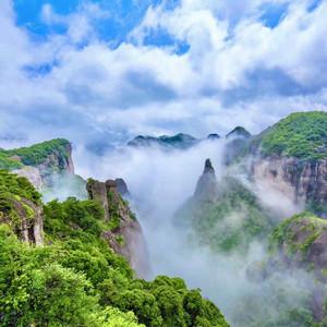 天台游记图文-若你向往诗画里的山水,那便来浙江台州领略那山与水和海相融的风情吧!