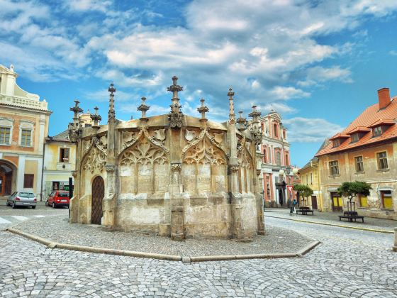 Gothic Stone Fountain