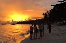 邦劳岛的夕阳醉了
