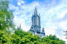曼德勒,缅甸的第二大城市,市中心有唯一的一座天主教堂