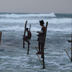 高跷渔夫旅游景点攻略图