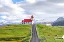 冰岛的颜值教堂:Ingjaldsholskirkja红色教堂