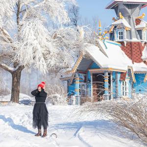 哈尔滨游记图文-当冰雪邂逅浪漫,我在伏尔加庄园当一次俄罗斯人