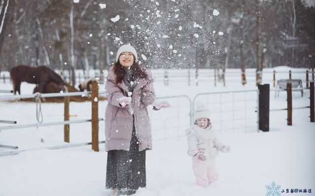 小豆苗(3.5y+)@北海道,化身小精灵,舔一口甜甜の雪。