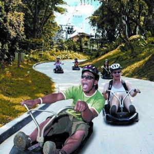圣淘沙天际线斜坡滑车旅游景点攻略图