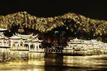 潮州广济桥灯光秀,壮观