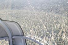 the view of grand canyon in south rim with helicop