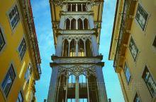 葡萄牙里斯本热门打卡地‖圣胡斯塔升降机  推荐理由: 升降机始建于1900年,完成于1902年,原本
