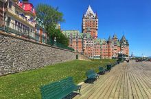 【魁北克】空城魁北克城。我们去的时候正值2018年G7峰会在魁北克举办,昨天上午进城时,整个魁北克城