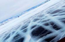 冬天的贝加尔湖,一片冰晶剔透