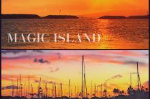 檀香山看日落最美的地方——Magic Island   想看夏威夷的日落美景 檀香山当地人推荐了一个