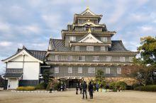 日本冈山县冈山城,因为天守阁部分镶嵌了黑色的墙体而被称为乌城,和兵库县的姬路城形成鲜明对比。  从后