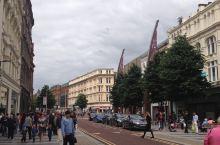 大英帝国北爱尔兰首府贝尔法斯特街景