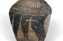 【彩陶片】浙江省博物馆藏。河姆渡文化因发现于浙江宁波余姚河姆渡而得名,其年代距今约 7000—530