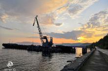 贝加尔湖畔看日落