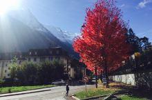 阿尔卑斯山下的霞慕尼小镇  如此闷热的今天,决定让雪景霸屏来降降温 说到雪山一定想到阿尔卑斯,想到阿