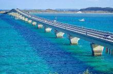 连接宫本岛与池间岛的大桥——池间大桥  池间大桥算是日本冲绳非常具有代表性的一个特色建筑,它连接着宫