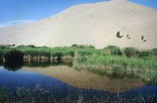 想不到的事情就是多!在巴丹吉林沙漠中竟然分布着大小不一的湖泊,有淡水的、也有咸水的,在沙漠中有湖泊真