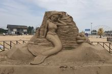 海滩沙雕。