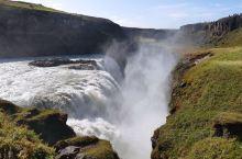 黄金瀑布,冰岛相遇的第一个瀑布,被罕见大风助力,难忘的震撼。