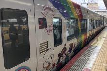 冈山JR站,好卡哇伊的電车。