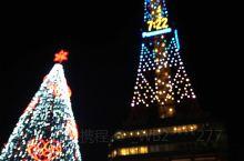 冬夜札幌电视塔的外景和登塔内景……