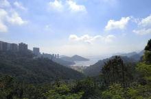 香港太平山半山区,俯瞰可以看到浅水湾,继续向上可以通往山顶,海洋公园就在半山区。据说这里是香港中产阶