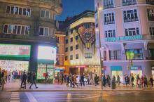 马德里手机扫街(皇宫区) 落地马德里时还是夕阳无限好,出地铁进入市中心已经是华灯初上了。长途飞行后倒