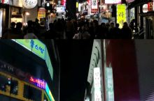 首尔的食街夜晚很热闹 首尔·韩国