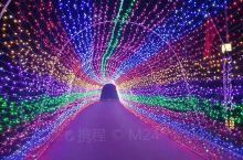 第一届汤河国家湿地公园灯展开始了,绚丽多彩