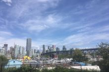 温哥华downtown的天际线