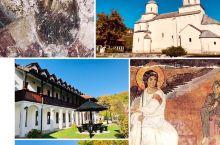 """从塞尔维亚驱车300多公里前往黑山, 途中路过有""""塞尔维亚敦煌""""之称的 """"米列塞瓦修道院"""", 于午时"""