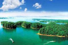 """南湾湖水域面积辽阔,是杭州西湖的十余倍,有着""""豫南明珠""""的美誉。在这里,游客可泛舟游湖、爬山登岛,也"""