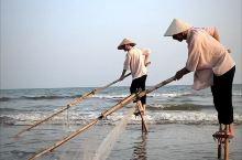 东兴京族特有的高跷捕鱼技艺,随着生产工具的现代化,目前已鲜有人会这样的技艺了,濒临失传,已被列入非遗